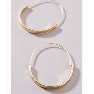 Anthro Annelise Hoop Earrings